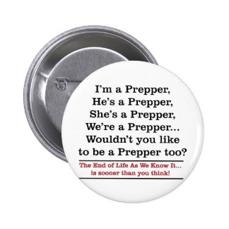 Recruit a Prepper 2 Inch Round Button