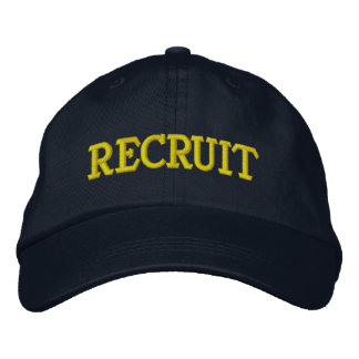 RECRUIT EMBROIDERED BASEBALL CAP