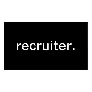 Recruiter Business Cards