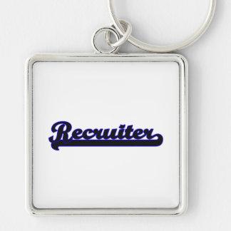 Recruiter Classic Job Design Silver-Colored Square Keychain