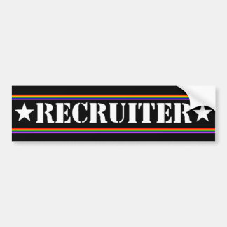 Recruiter Gay Pride Bumper Sticker