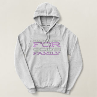 Recruiting For God's Family Embroidered Hoodie