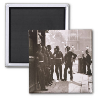 Recruiting Sergeants at Westminster, 1876-77 (wood 2 Inch Square Magnet