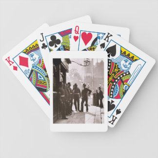 Recruiting Sergeants at Westminster, 1876-77 (wood Bicycle Playing Cards