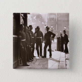 Recruiting Sergeants at Westminster, 1876-77 (wood Button