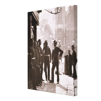 Recruiting Sergeants at Westminster, 1876-77 (wood Canvas Print