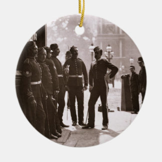 Recruiting Sergeants at Westminster, 1876-77 (wood Ceramic Ornament