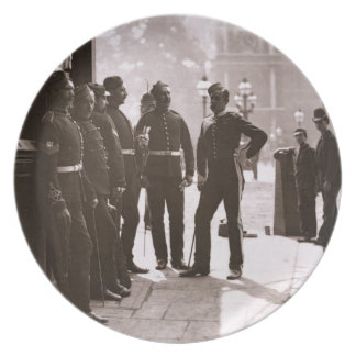 Recruiting Sergeants at Westminster, 1876-77 (wood Dinner Plate