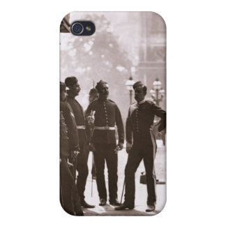 Recruiting Sergeants at Westminster, 1876-77 (wood iPhone 4 Case
