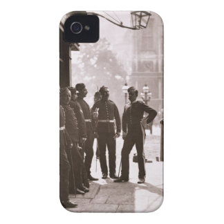 Recruiting Sergeants at Westminster, 1876-77 (wood iPhone 4 Case-Mate Cases
