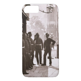 Recruiting Sergeants at Westminster, 1876-77 (wood iPhone 8/7 Case