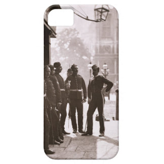 Recruiting Sergeants at Westminster, 1876-77 (wood iPhone SE/5/5s Case