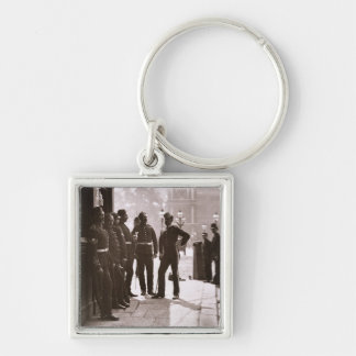 Recruiting Sergeants at Westminster, 1876-77 (wood Keychain