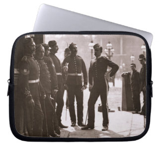 Recruiting Sergeants at Westminster, 1876-77 (wood Laptop Computer Sleeves