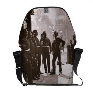 Recruiting Sergeants at Westminster, 1876-77 (wood Messenger Bags