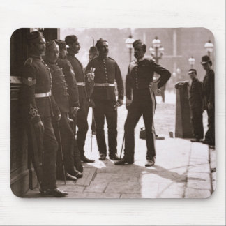 Recruiting Sergeants at Westminster, 1876-77 (wood Mouse Pad