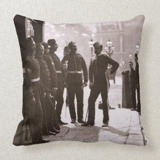 Recruiting Sergeants at Westminster, 1876-77 (wood Pillow