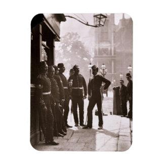 Recruiting Sergeants at Westminster, 1876-77 (wood Rectangular Photo Magnet