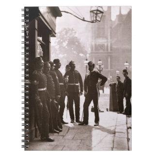 Recruiting Sergeants at Westminster, 1876-77 (wood Spiral Notebook