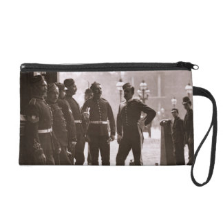 Recruiting Sergeants at Westminster, 1876-77 (wood Wristlet Purse