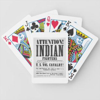 Recruitment poster for the U.S. Volunteer Cavalry, Bicycle Playing Cards