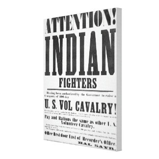 Recruitment poster for the U.S. Volunteer Cavalry, Canvas Print