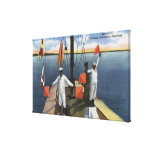 Recruits Learning Semaphore Signaling - US Navy Gallery Wrap Canvas