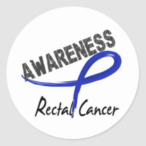 Rectal Cancer Awareness 3 Classic Round Sticker