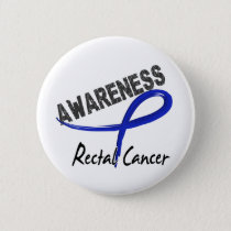 Rectal Cancer Awareness 3 Pinback Button