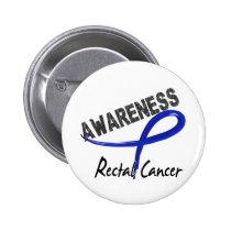 Rectal Cancer Awareness 3 Pinback Button