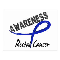 Rectal Cancer Awareness 3 Postcard