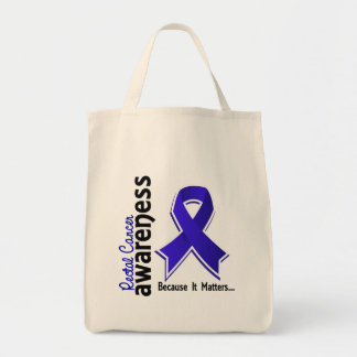 Rectal Cancer Awareness 5 Anal Cancer Grocery Tote Bag