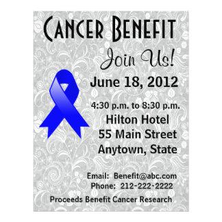Rectal Cancer Awareness Benefit Gray Floral Flyer