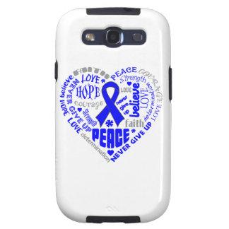 Rectal Cancer Awareness Heart Words Samsung Galaxy SIII Case