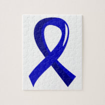Rectal Cancer Blue Ribbon 3 Jigsaw Puzzle