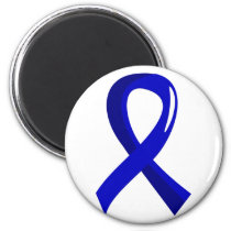 Rectal Cancer Blue Ribbon 3 Magnet