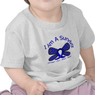 Rectal Cancer Butterfly I Am A Survivor Tee Shirt