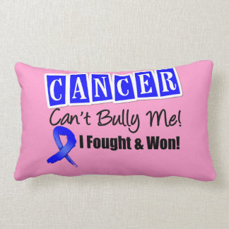 Rectal Cancer Can't Bully Me...I Fought I Won Throw Pillows
