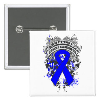 Rectal Cancer - Cool Support Awareness Slogan Pin