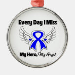 Rectal Cancer Every Day I Miss My Hero Christmas Tree Ornament