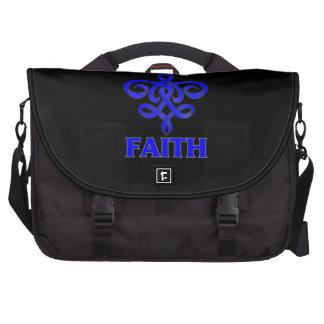 Rectal Cancer Faith Fleur de Lis Ribbon Laptop Computer Bag
