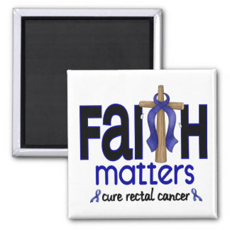 Rectal Cancer Faith Matters Cross 1 2 Inch Square Magnet