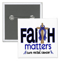 Rectal Cancer Faith Matters Cross 1 Button