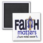 Rectal Cancer Faith Matters Cross 1 Fridge Magnets