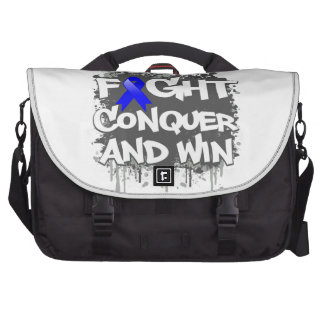 Rectal Cancer Fight Conquer and Win Laptop Bag
