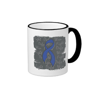 Rectal Cancer Fight Defy Win Mugs