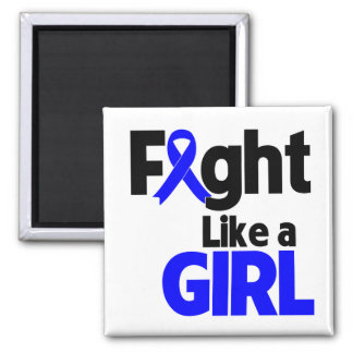 Rectal Cancer Fight Like a Girl 2 Inch Square Magnet