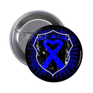 Rectal Cancer  Fight Like A Girl Armor Button