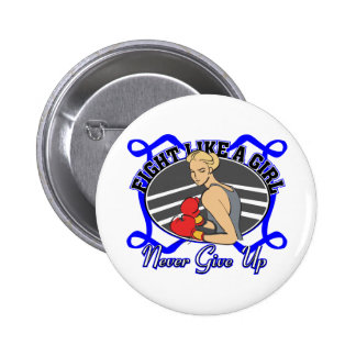 Rectal Cancer Fight Like A Girl Boxer Buttons