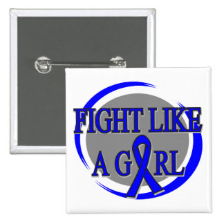 Rectal Cancer Fight Like A Girl Circular Pinback Buttons